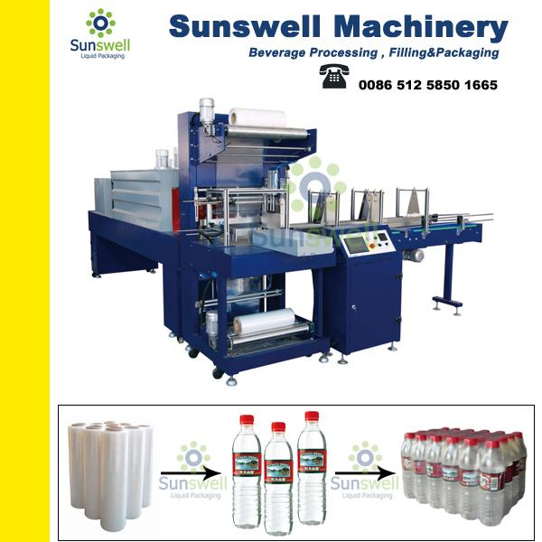 Safe 6 Bar Shrink Packaging Equipment For PET Bottles / Glass Bottles / Pop-top Cans