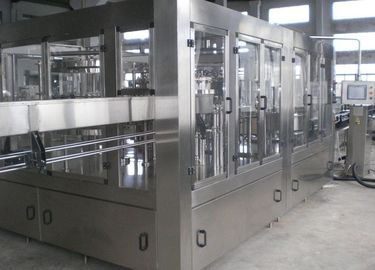 Compact Beer Filling Machine , Automatic Glass Bottling Equipment