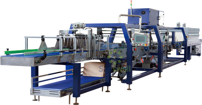 Automatic PE Film Shrink Packaging Equipment Linear Type For Soft Drink / Liquor সরবরাহকারী