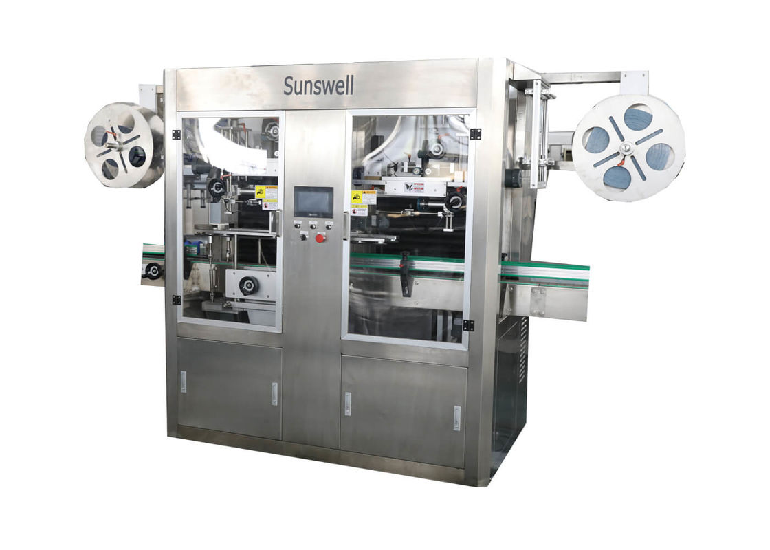 Round Bottle PVC Shrink Sleeve Labeling Machine With Electrical Heating Shrink Oven