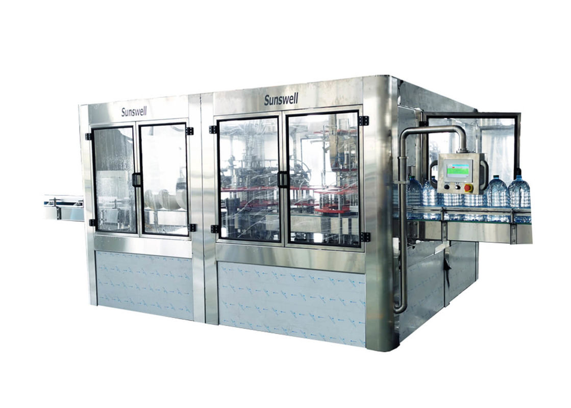 3-10L Bottle Barrel Washing Filling Capping Machine For Mineral / Pure / Drinking Water